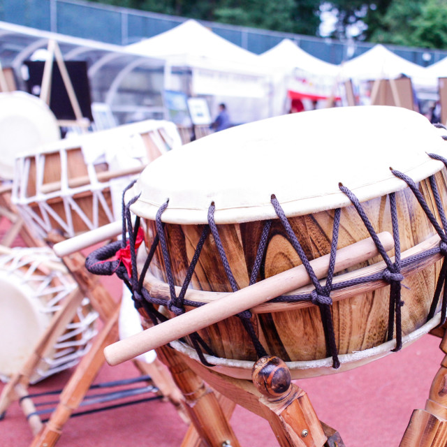 """""""Korean cymbal at festival grounds 2"""" stock image"""