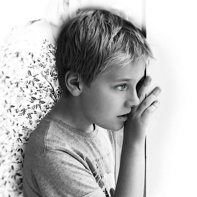 """""""Young Daydreamer"""" stock image"""