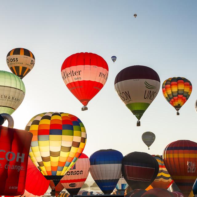 """""""Bristol International Balloon Fiesta"""" stock image"""