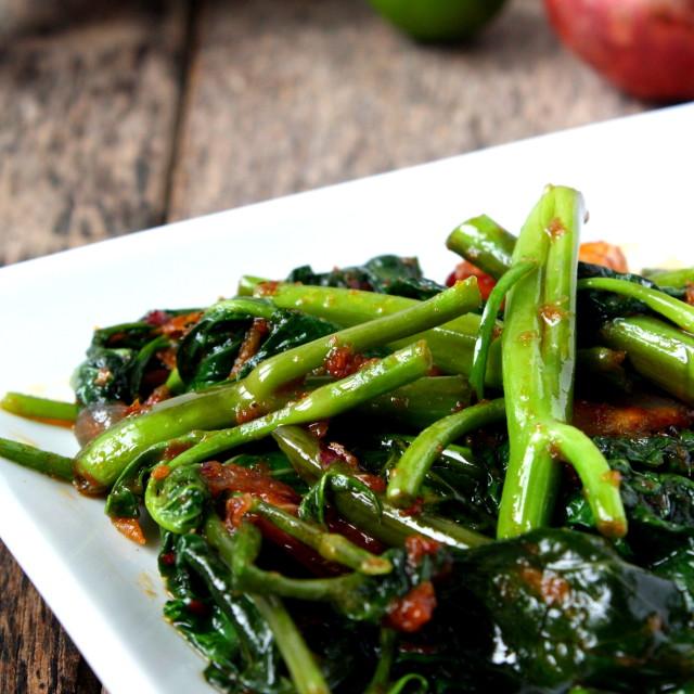 """""""Stir Fry Kangkung"""" stock image"""