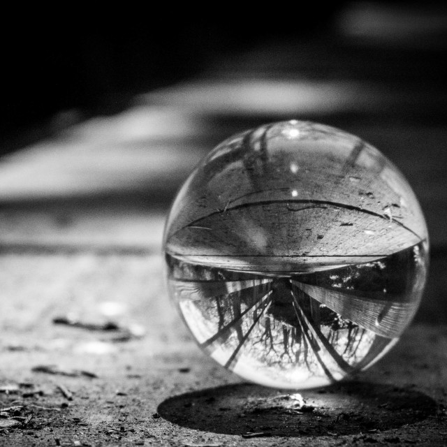 """""""Reflections of a Crystal Ball"""" stock image"""