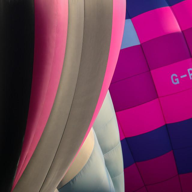 """""""Pink Hot Air Balloons"""" stock image"""