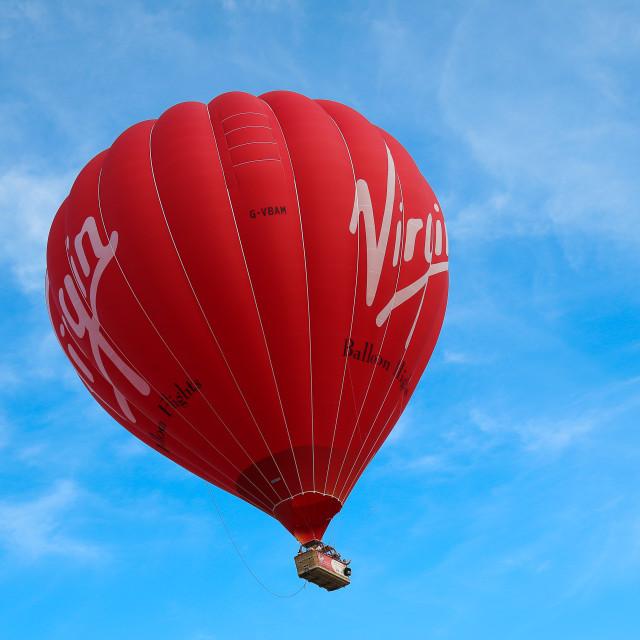 """""""Virgin Hot Air Balloon"""" stock image"""