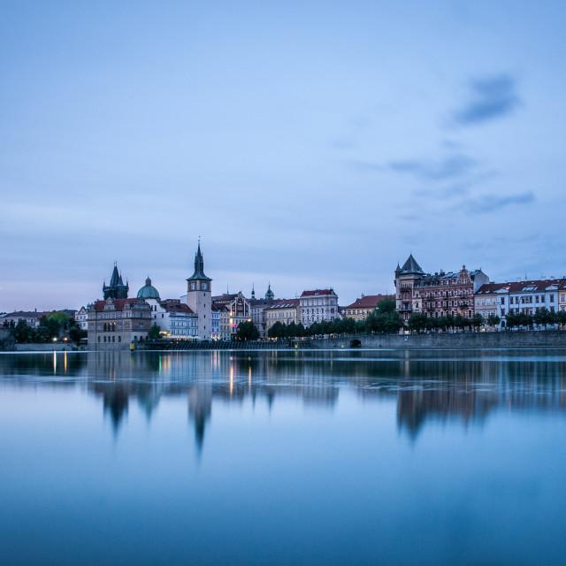 """""""Prague Riverside"""" stock image"""