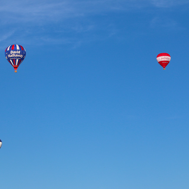 """Five Hot Air Balloons"" stock image"