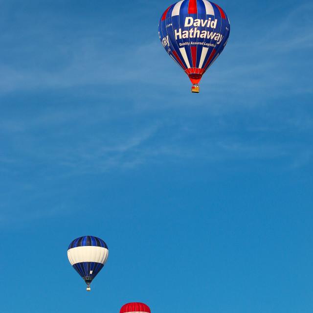 """""""Three Hot Air Balloons"""" stock image"""