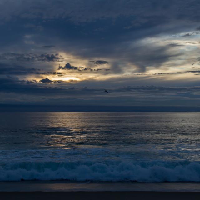 """Ocean Sunset"" stock image"
