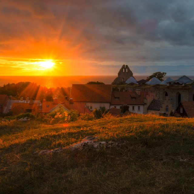 """Visby Sunset"" stock image"
