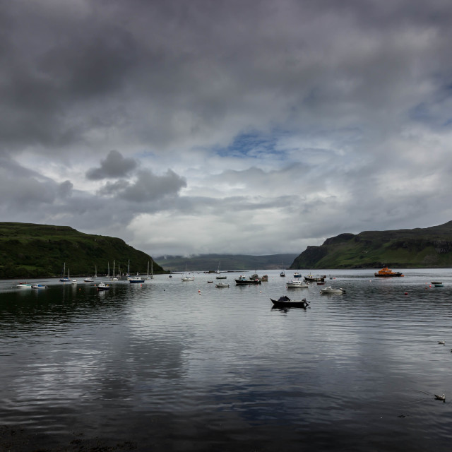 """""""The View From Portree Harbour"""" stock image"""