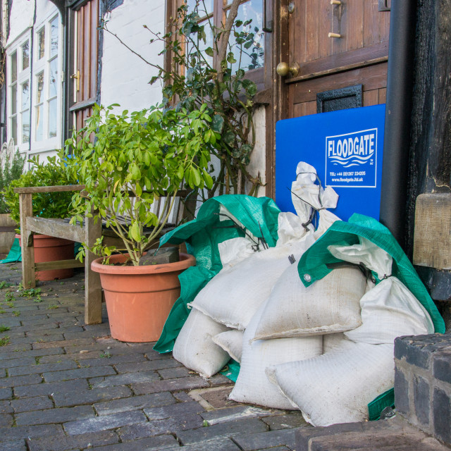 """Sandbags Flood Defence"" stock image"