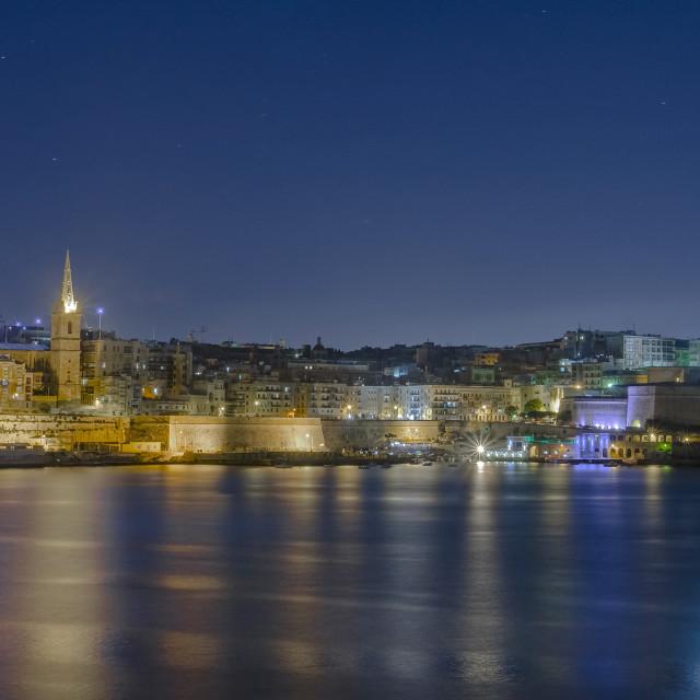 """Malta at night"" stock image"