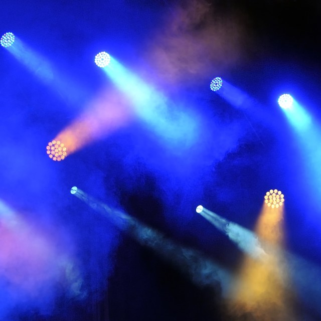"""""""Spotlights at the concert."""" stock image"""