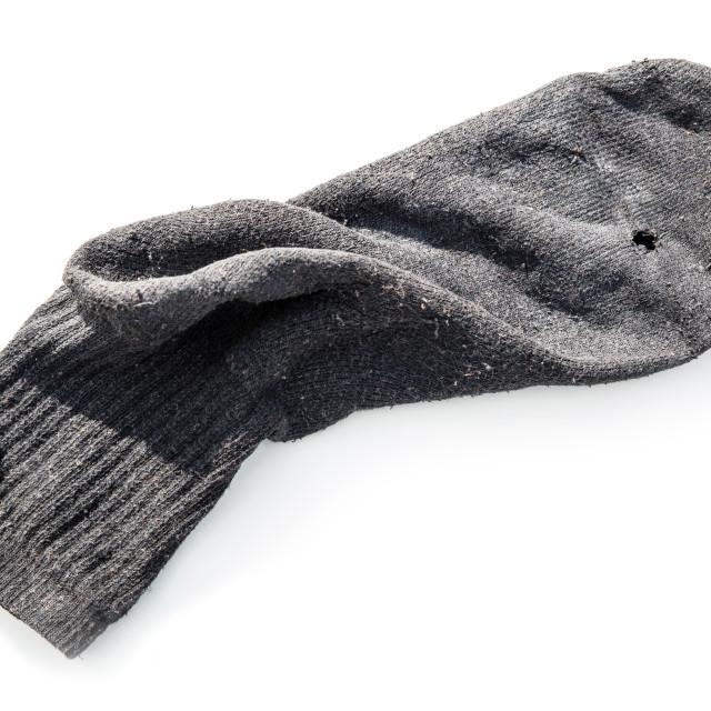 """Old Sock"" stock image"
