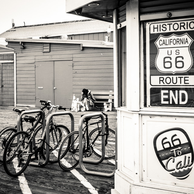 """""""End of Route 66"""" stock image"""