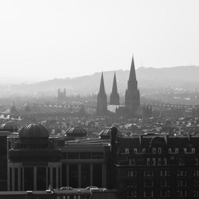"""Edinburgh cityscape"" stock image"