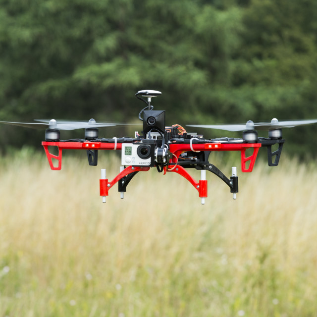 """Drone in the air"" stock image"