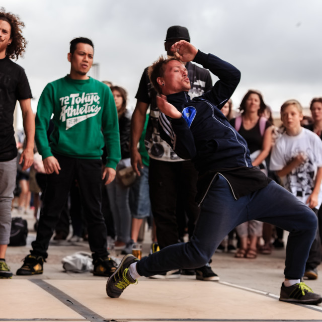 """Breakdancers"" stock image"