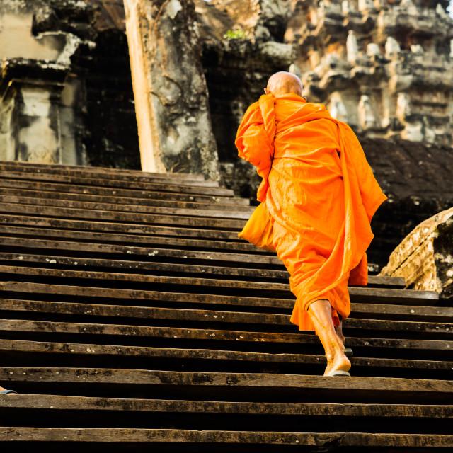 """Cambodia monk"" stock image"