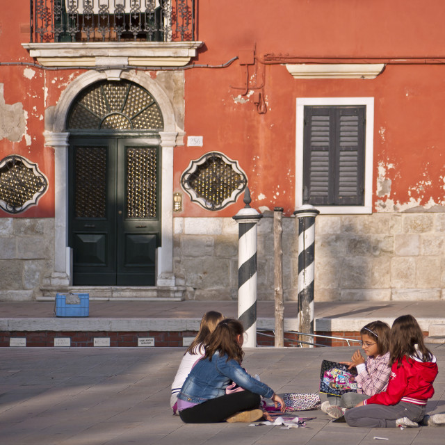 """""""After School - Burano"""" stock image"""