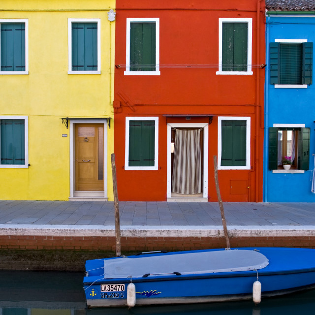 """""""Burano - Symphony in Colour"""" stock image"""