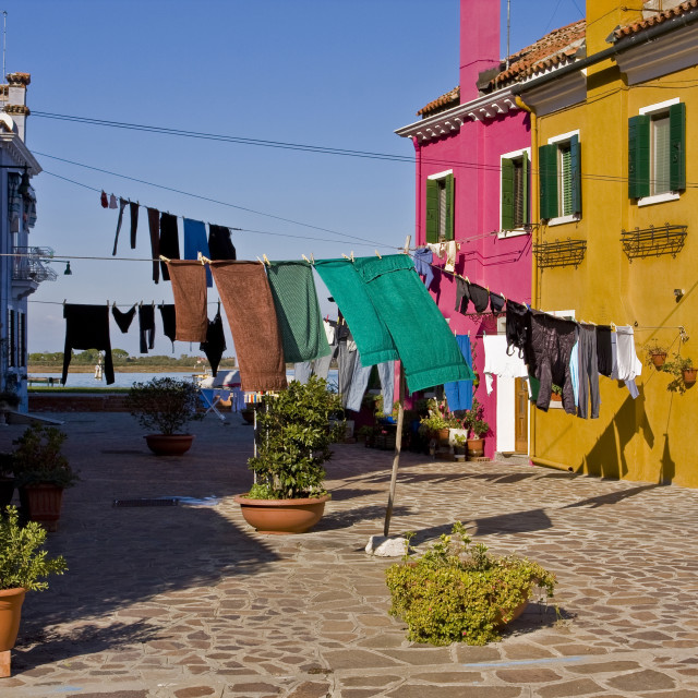"""Burano Washing Lines"" stock image"