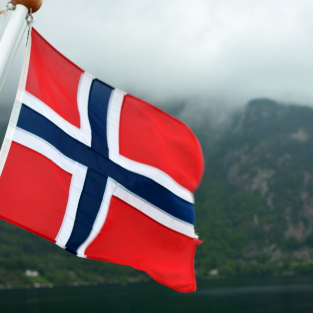 """""""Norwegian flag"""" stock image"""
