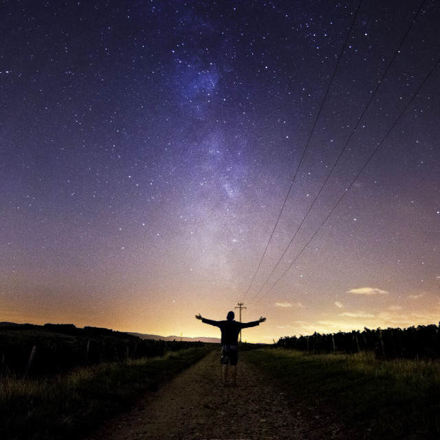 """""""Path to the Milky Way"""" stock image"""
