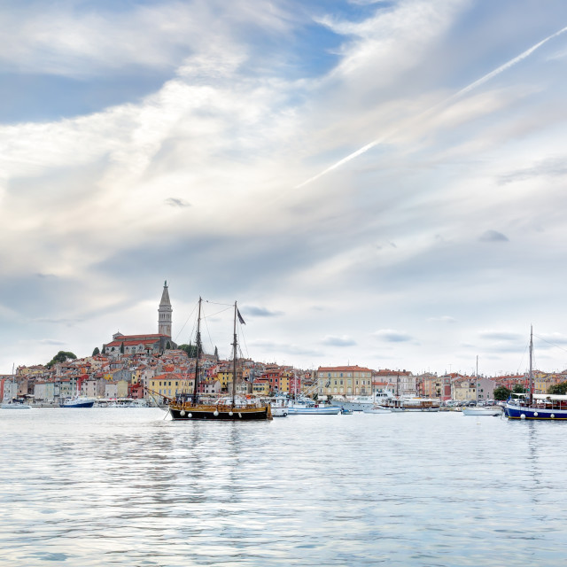 """Old Istrian town of Rovinj or Rovigno in Croatia"" stock image"