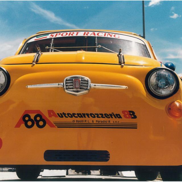 """Yellow Fiat 500 Abarth"" stock image"