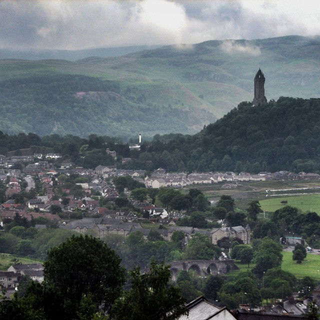 """""""National Wallace Monument , Stirling , Scotland"""" stock image"""