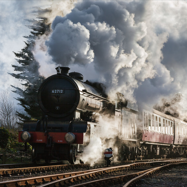 """""""Blasting out of Sheringham"""" stock image"""