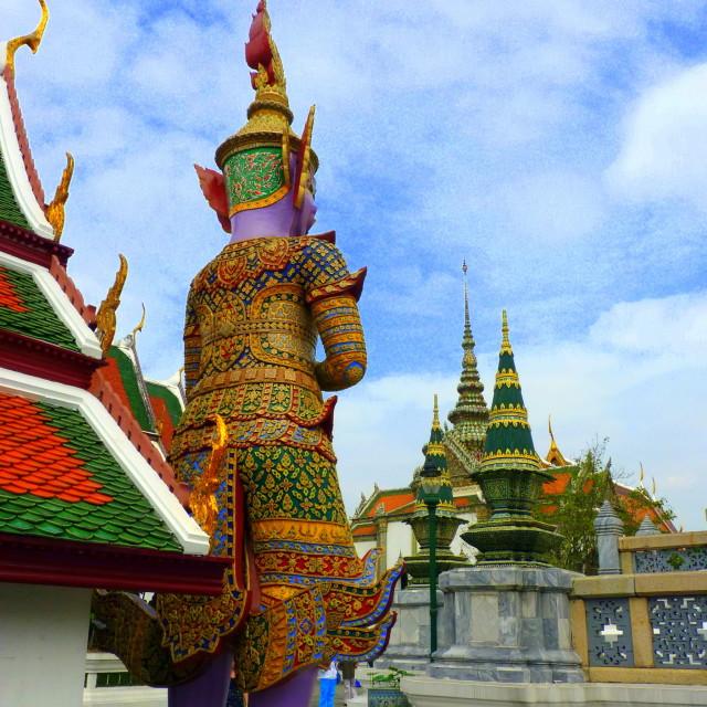 """""""Buddha in Wat Pho Royal Palace Bangkok"""" stock image"""