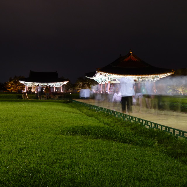 """Temple night Gyeongju, South Korea"" stock image"