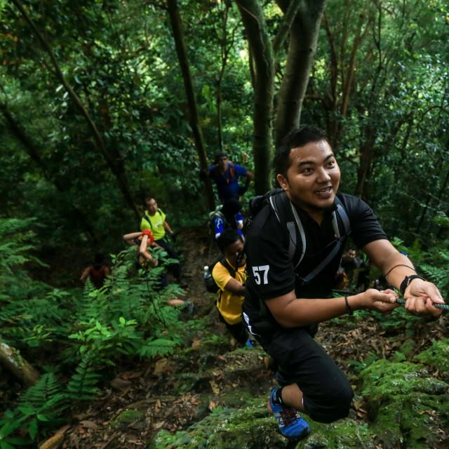 """""""Hiking in Malaysia"""" stock image"""