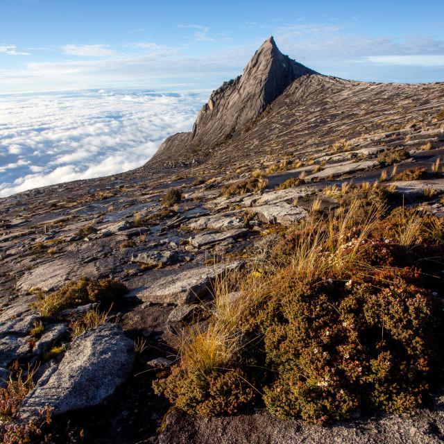 """Mountain Kinabalu in Sabah Borneo, Malaysia."" stock image"