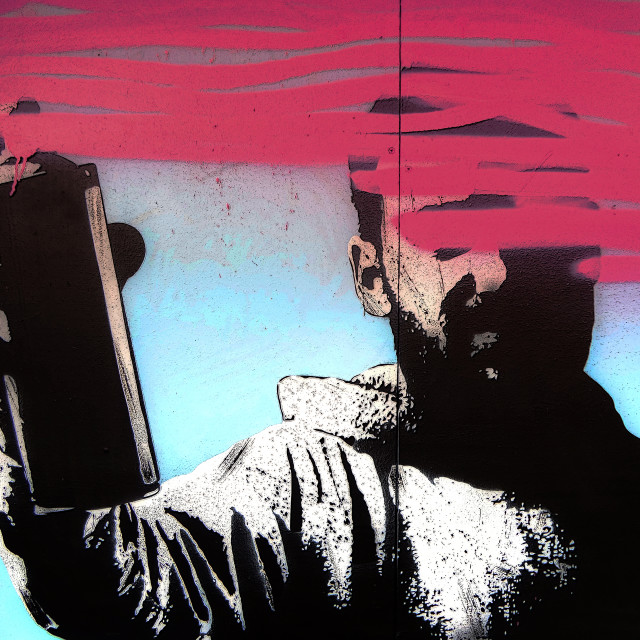 """Street art stencil"" stock image"
