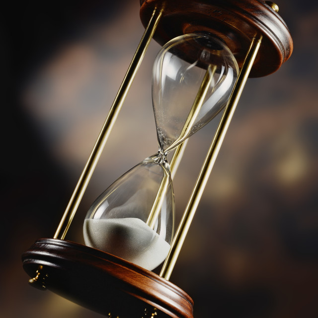 """Antique hourglass"" stock image"