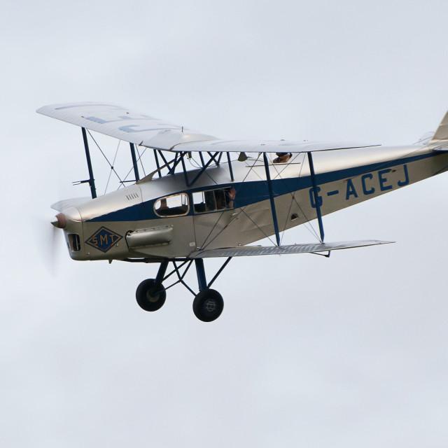 """Vintage Aircraft DH Fox Moth"" stock image"