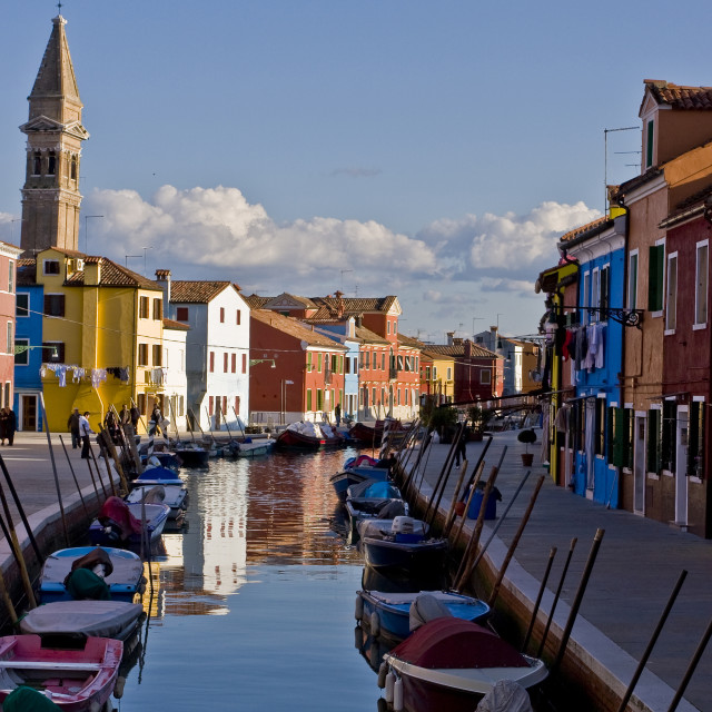 """""""The Bsland of Burano"""" stock image"""