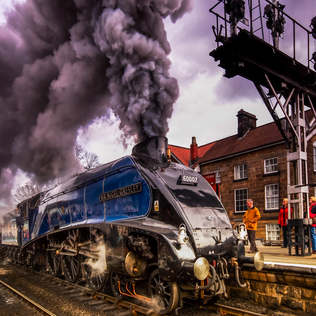 """Sir Nigel Gresley"" stock image"