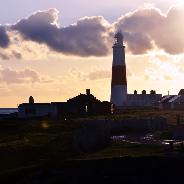 """Portland Bill at Dusk"" stock image"