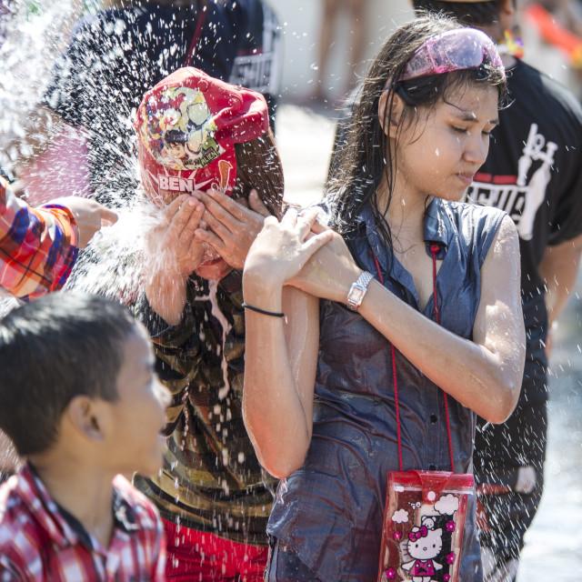 """Thai New Year 'Sonkran' Thailand"" stock image"