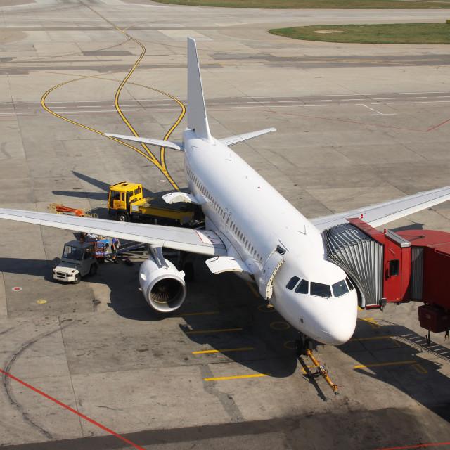 """""""Aircraft Turnaround"""" stock image"""
