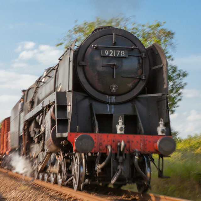 """9F Goods Train"" stock image"