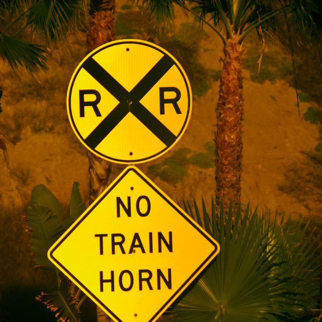 """No Train Horn"" stock image"