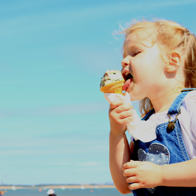 """Ice cream on the Beach"" stock image"