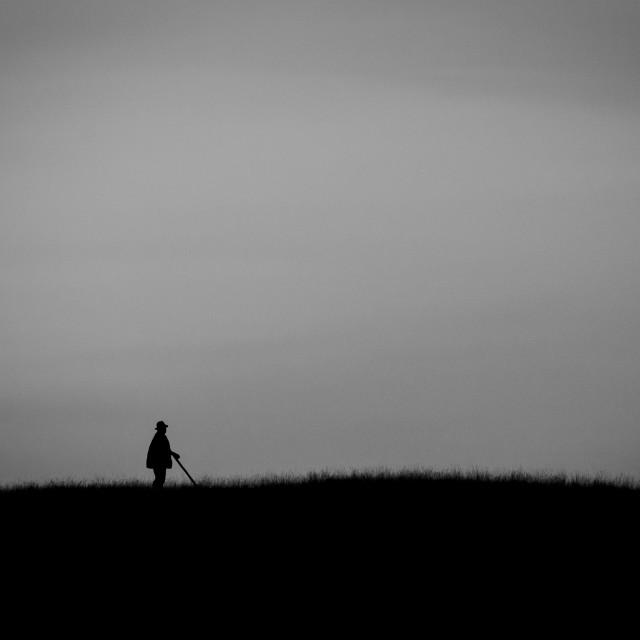 """Lonely Shepherd"" stock image"