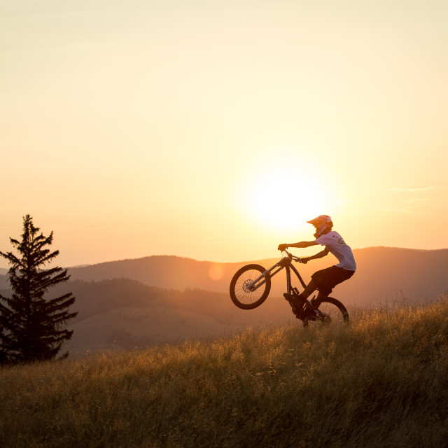 """Sunset Ride"" stock image"