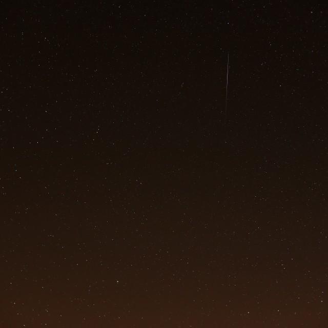 """""""Meteor Shower & Stars"""" stock image"""
