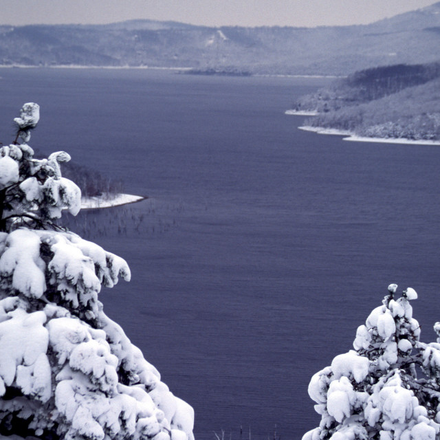 """Ozarks Winter Scene on Table Rock Lake"" stock image"